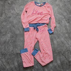 Love by Ellen DeGeneres striped pyjamas set